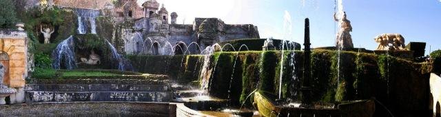 Villa d'Este fuente de roma