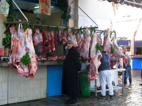 En el mercado de larache