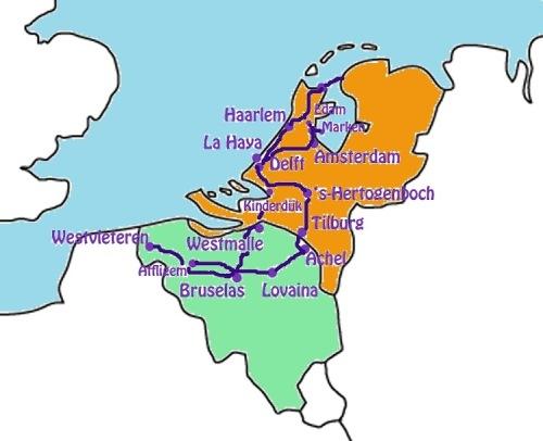 ruta abadias belgas