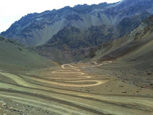 Subida por el camino chileno